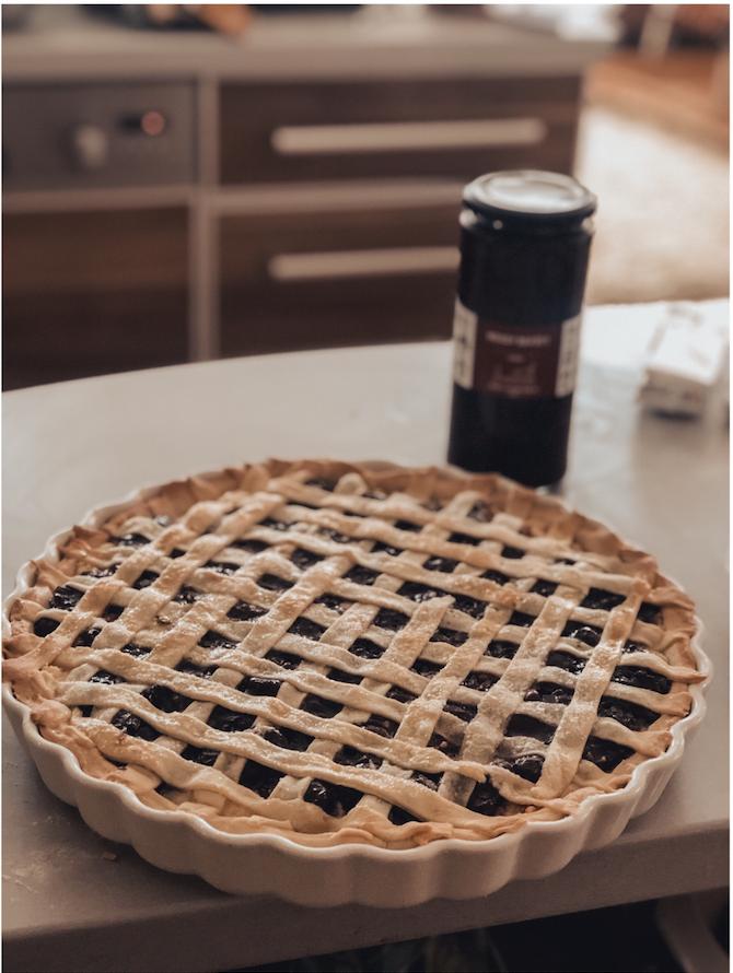 Meggyes-túrós pite